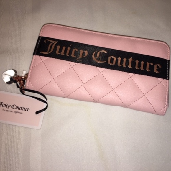 Juicy Couture Handbags - Juicy Couture Pink Quilted Wallet NWT